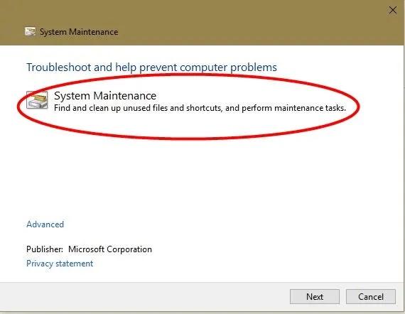 windows-os-run-fast-system-صيانة-استكشاف الأخطاء وإصلاحها