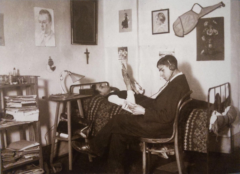 Pokój  w akademiku PST we Lwowie, 1932 r.
