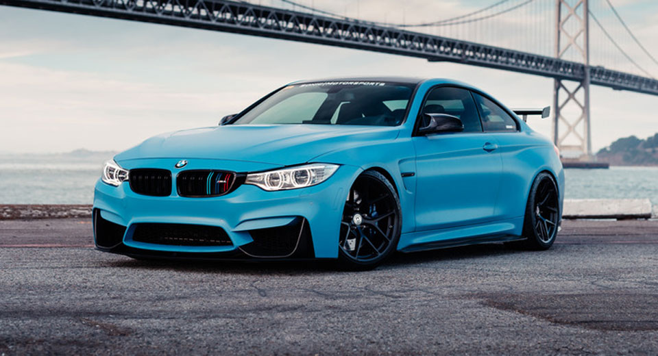 Frozen Yas Marina Blue Bmw M4 Is The Ultimate Smurf