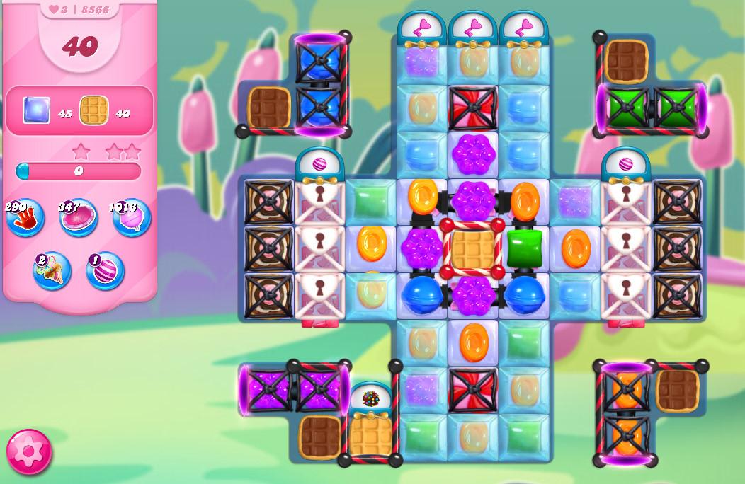Candy Crush Saga level 8566