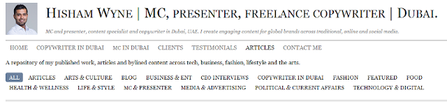 renowned event presenter and copywriter in Dubai