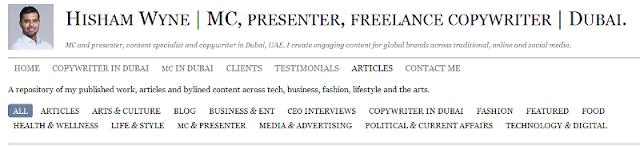renowned event presenter and copywriter in Dubai