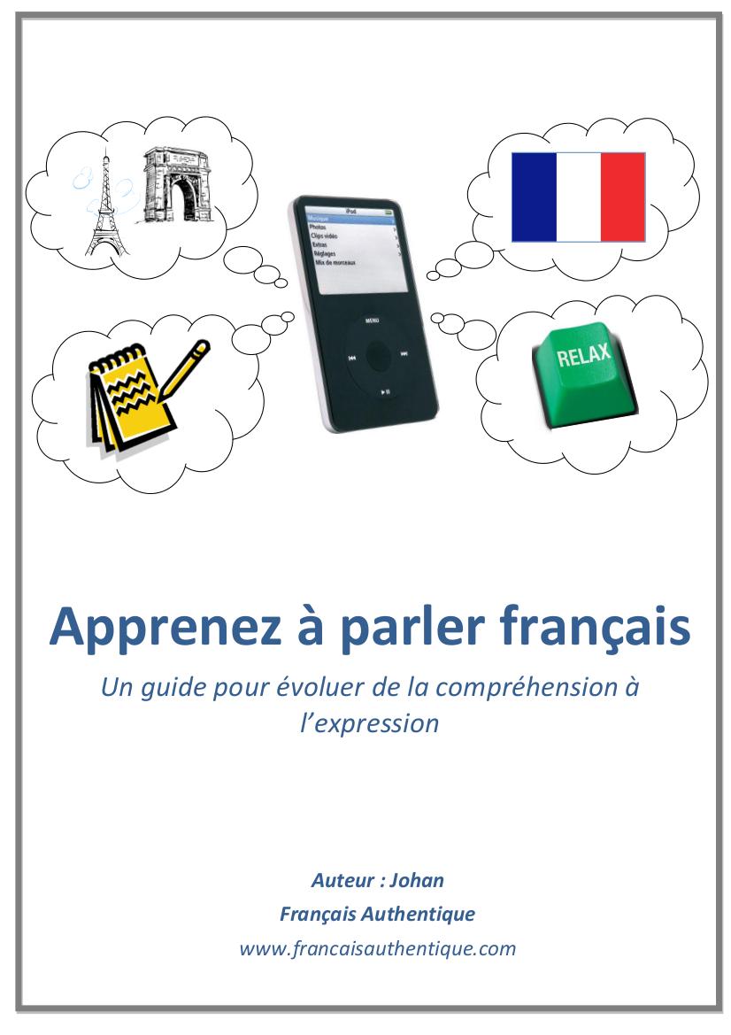 E-Book Apprenez à parler français livre pdf + audio Mp3