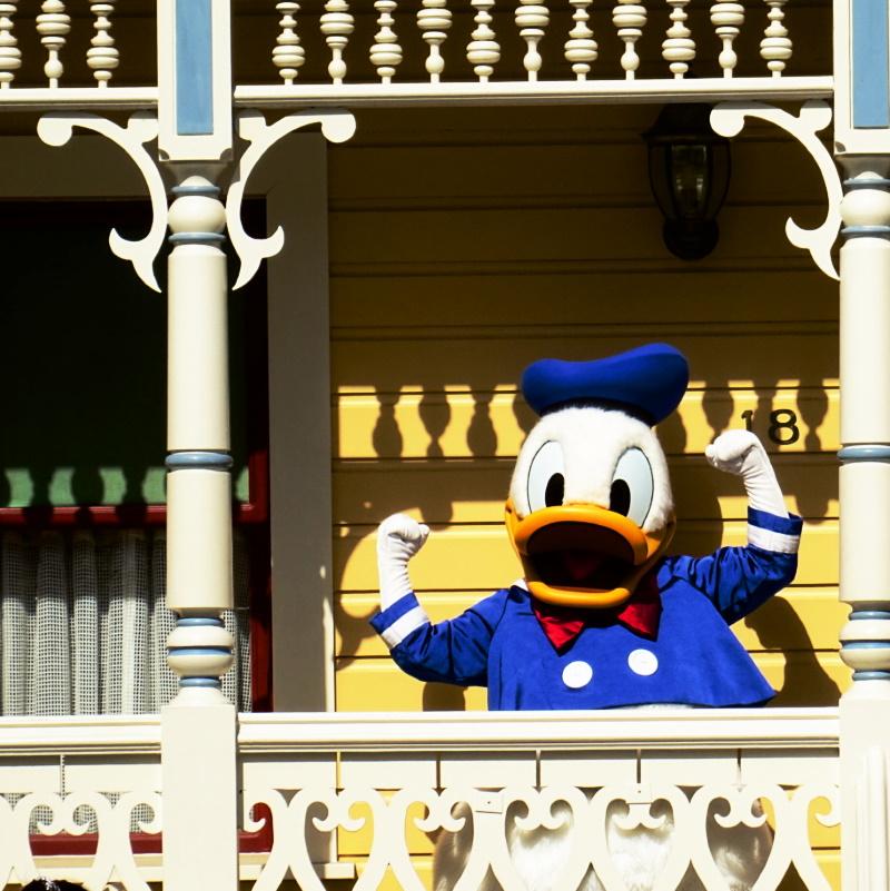 Ouverture de Disneyland Paris, photo de Donald