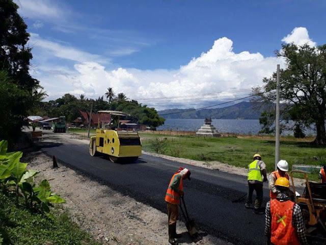 Mantab, Jalan Danau Toba Diperlebar, Ini Fotonya
