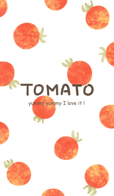 I LOVE TOMATO woter color