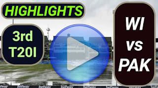 WI vs PAK 3rd T20I 2021
