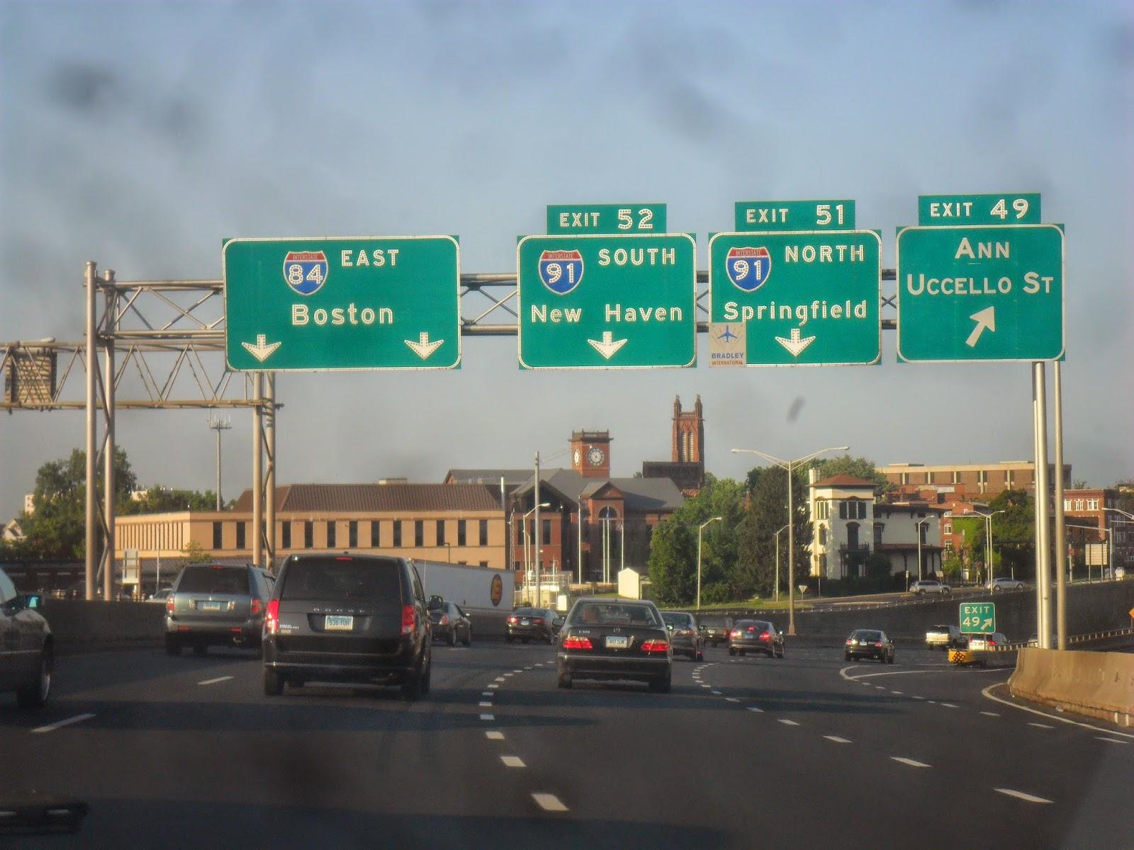 Luke's Signs: Interstate 84 - Hartford, Connecticut