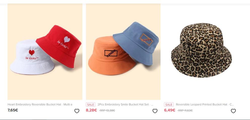 Zaful colorful bucket hats