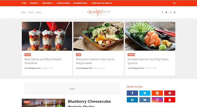 Plate Blogger Template