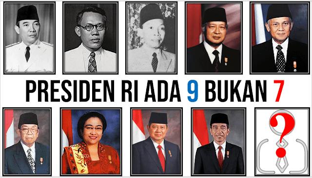 Presiden Indonesia Ada Sembilan Bukan Tujuh