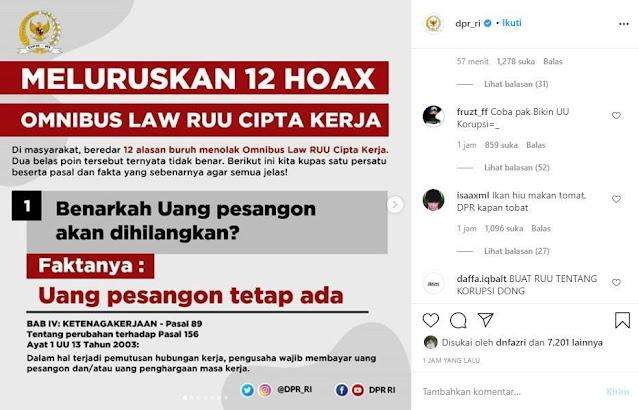 """Profesor Suteki Tanggapi Kontra Narasi """"Meluruskan 12 Hoax Omnibus Law RUU Cipta Kerja"""""""