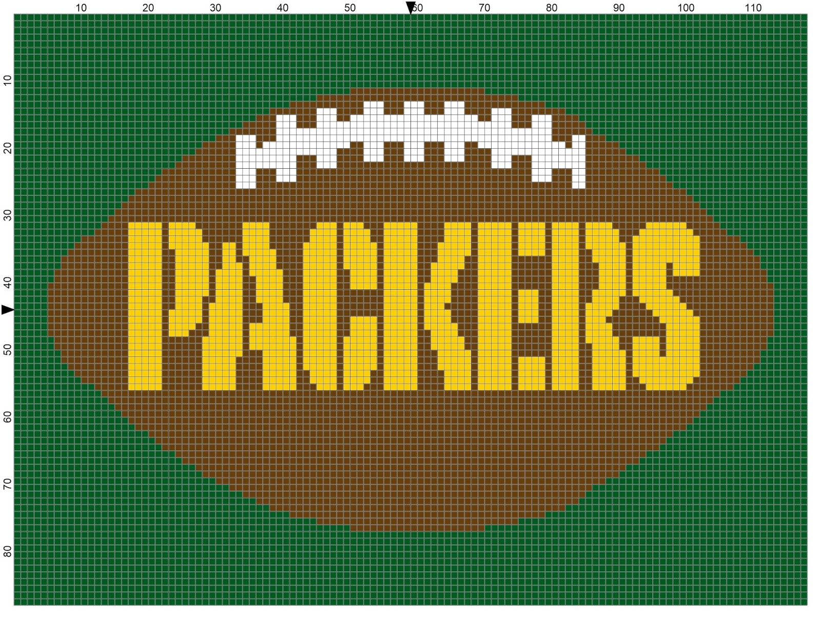 d6d0a9e31de I ve had a lot of interest on my Green Bay Packers graph found here but one  customer wated to try something different after she had tackled and  conquered ...