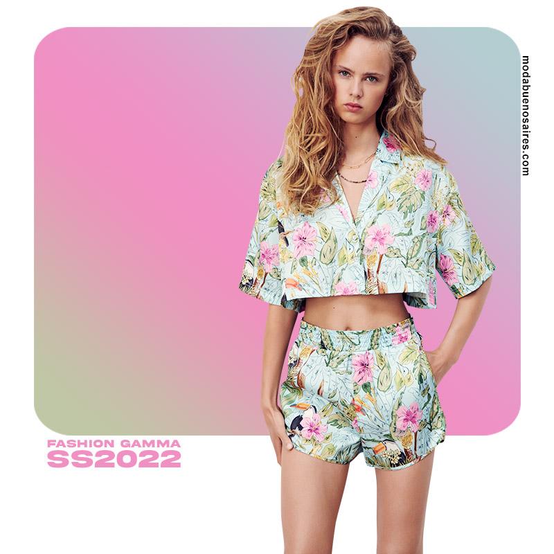 estampados florales colores 2022 ropa de mujer