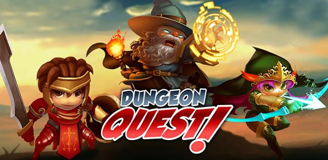 Game Info , Nama : Dungeon Quest Apk, Kategori : RPG, Developer : Shiny Box, LLC, Versi : 3.0.0.0 (Up 22 April 2017), OS : 4.0 +, Size Apk : 41.6 Mb, Bisa dimainkan offline, Dungeon Quest v3.0.0.0 Mod Apk Free Shopping/Mana/God Mode, download dungeon quest mod apk terbaru,