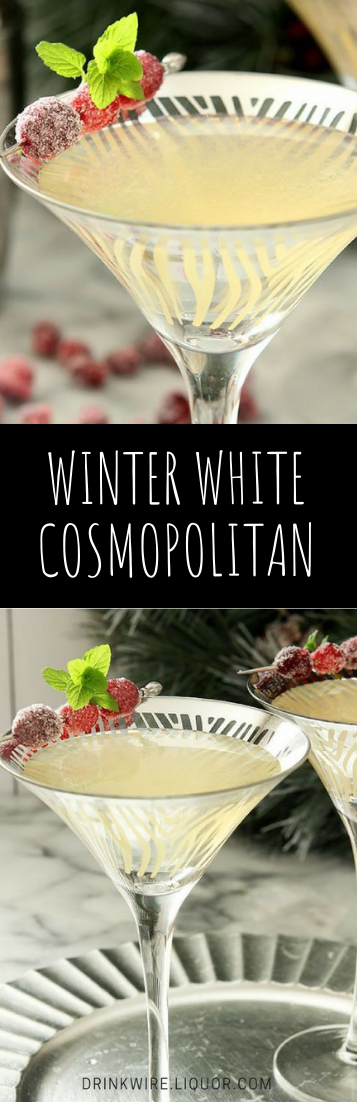 WINTER WHITE COSMOPOLITAN #drink #cocktail