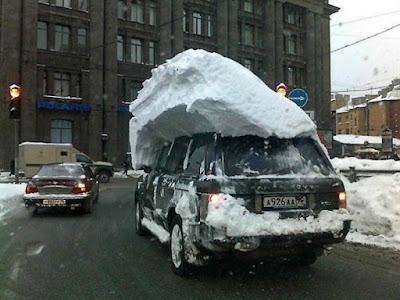 Faule Autofahrer im Winter - Keine Lust witzig