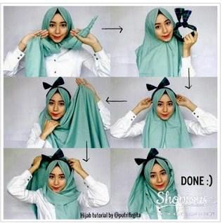 Trend Cara Memakai Hijab Modern Pashmina Bahan Kaku untuk Style Kekinian
