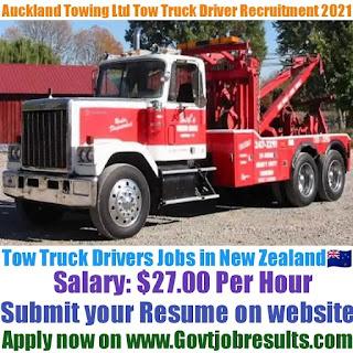 Auckland Towing Ltd Tow Truck Driver Recruitment 2021-22