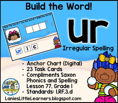 Letter Combination ur (Bossy r): Read It! Say It! Build It!