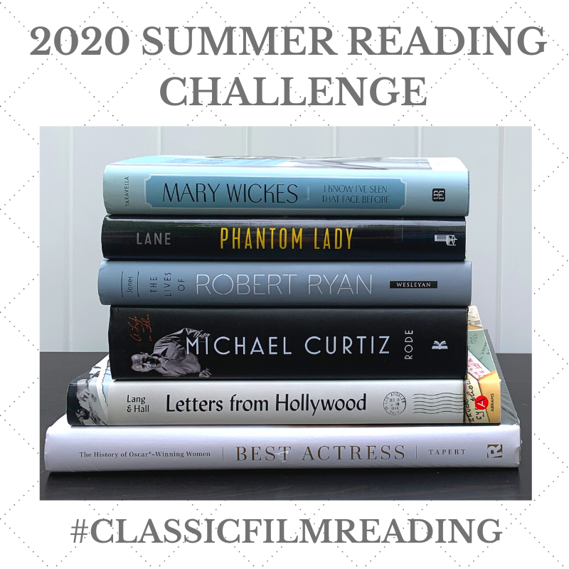 Grab button for the 2020 Summer Reading Classic Film Book Challenge
