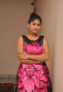 Actress Asmitha Khan Pictures in Floral Frock at Dirty Game Audio Launch 0013