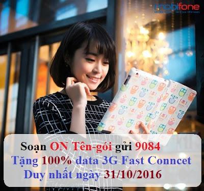 Mobifone khuyến mãi 3G ngày 31/10