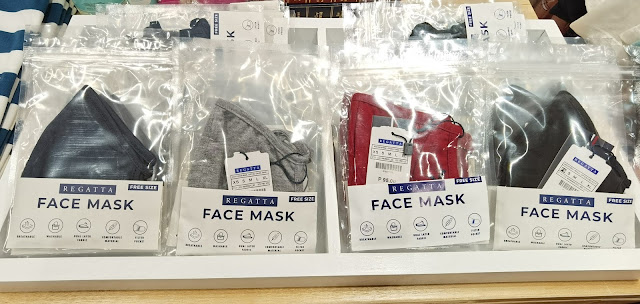 Plain but stylish face masks from Regatta in SM City Masinag