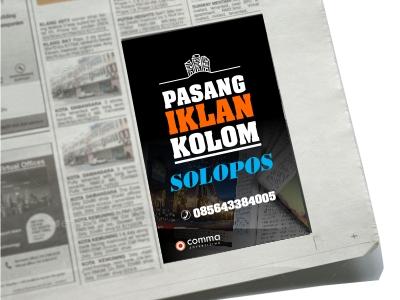 pasang Iklan Kolom di Koran Solopos