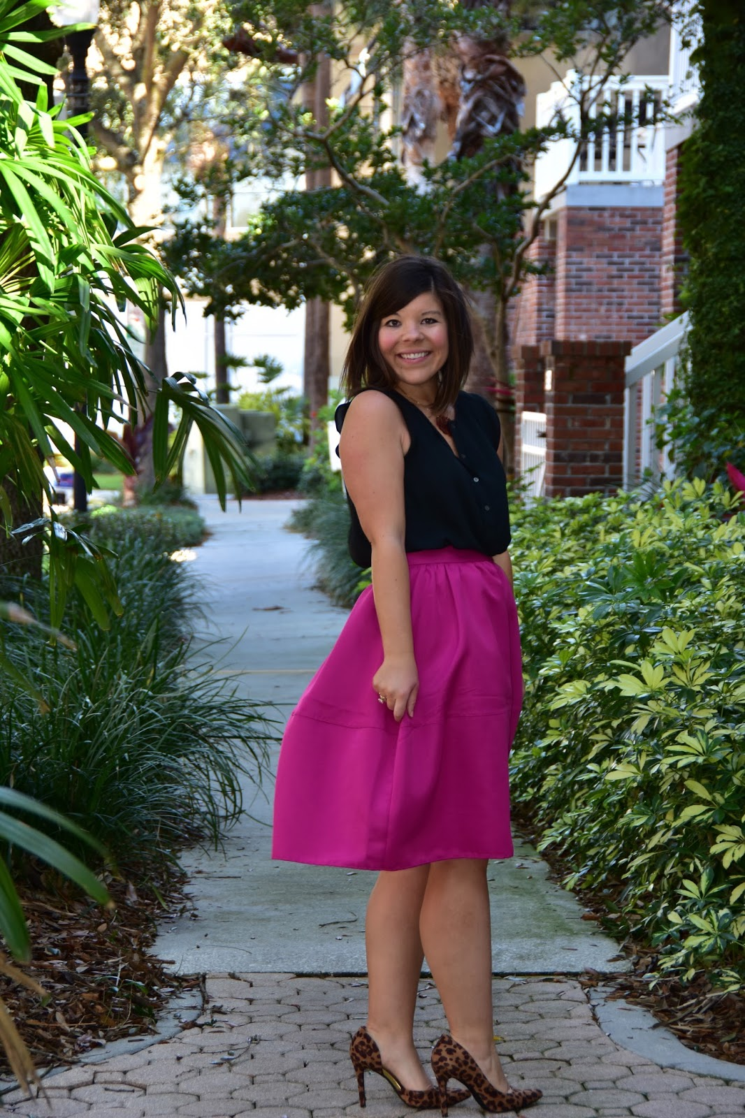 Workweek Chic: Black and Pink