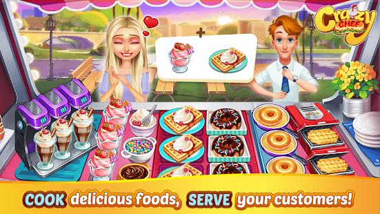 Crazy Chef. Os melhores jogos de cozinhar para Android!