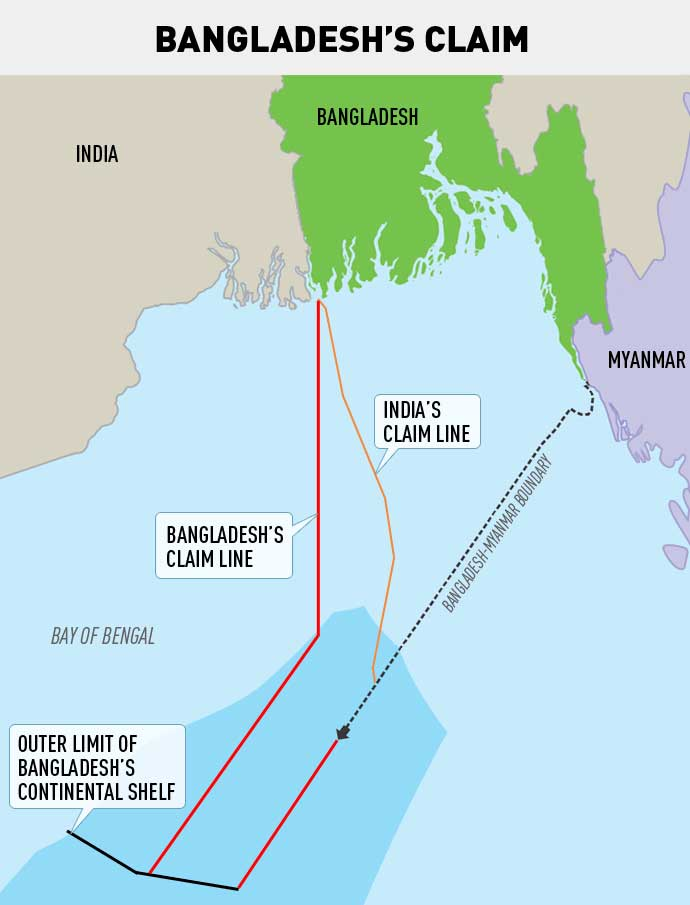 Bay of Bengal Dispute Map Claim by Bangladesh