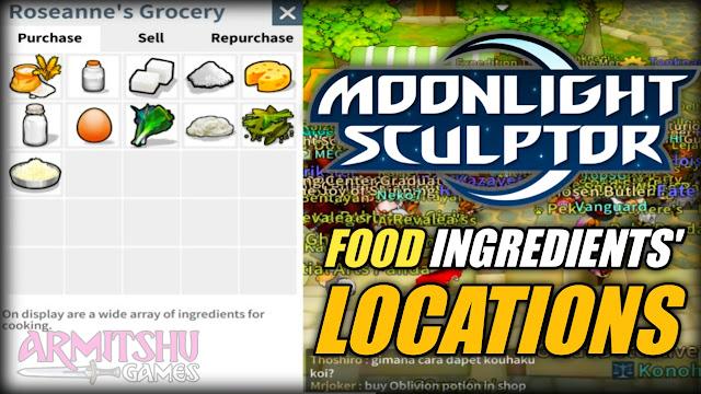 Moonlight sculptor ingredients' location