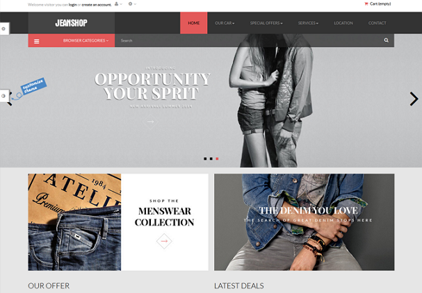 free clothes store template