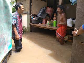 Desa Gegelang Lingsar Lobar Terendam Banjir