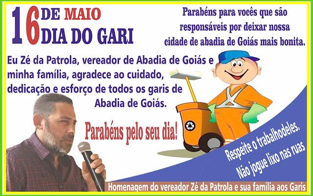 Zé da Patrola, vereador de Abadia de Goiás presta homenageia os pelo seu dia