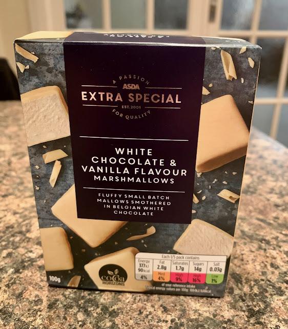White chocolate and Vanilla Flavour Marshmallows (Asda)