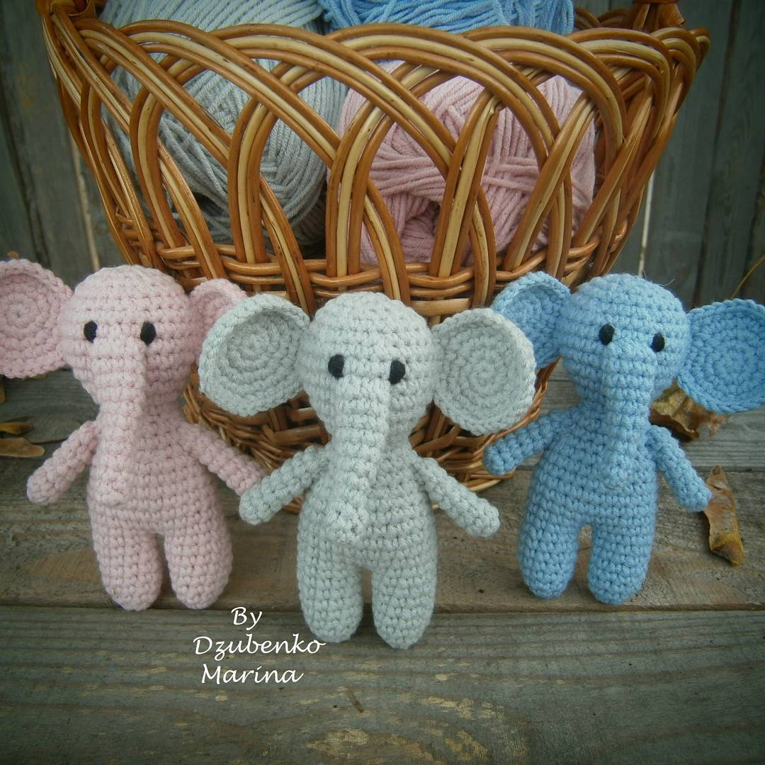 Pink doll Elephant - Amigurumi - Plush animal in www.artama.es | 1080x1080