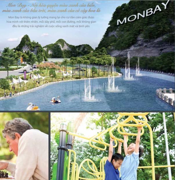 Cảnh quan tiện ích dự án Mon Bay