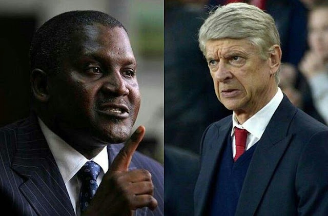 Image result for Aliko Dangote wenger