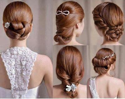 Memilih Model Rambut Untuk Gaun Malam