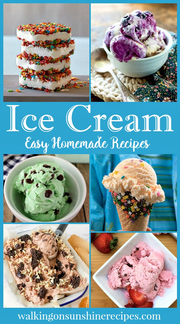 Delicious homemade ice cream recipes featured on Walking on Sunshine.  Some of these recipes are made with an ice cream maker and some are made without an ice cream maker!
