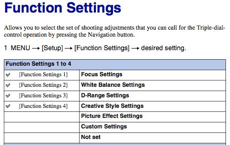 Sony NEX-7 Rear Button Focus