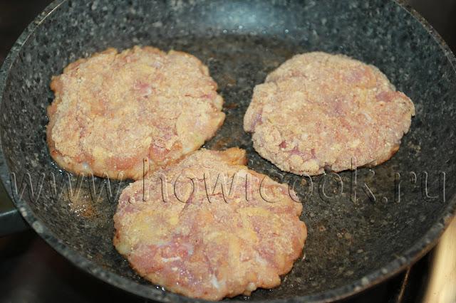 рецепт чикенбургера с беконом с пошаговыми фото