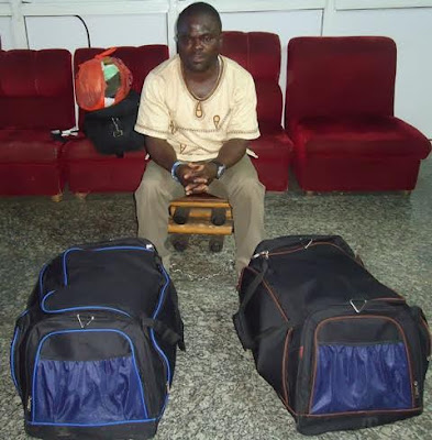 Photos: South African Based Nigerian Arrested With 3.9kg Of Drug In Lagos