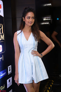 Shanvi Looks super cute in Small Mini Dress at IIFA Utsavam Awards press meet 27th March 2017 105.JPG