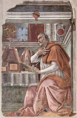 "saint-augustin-sandro_botticelli_ Μποττιτσέλλι ""Άγιος Αυγουστίνος"""
