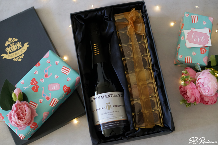 Personalised Bottle of Prosecco with Chocolate Truffles Gift Box from Red Letter Days