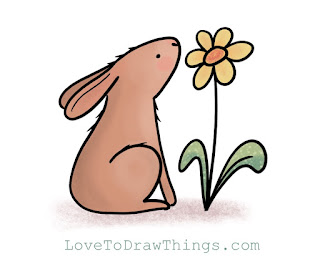 Easy cute animals to draw. Cute bunny to draw