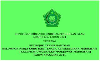 Bantuan Dana Pemberdayaan KKG, MGMP Madrasah Tahun 2021
